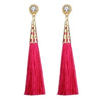 ethnische schnüre großhandel-Mode für Frauen HandworkLong Quaste Ohrringe mit Samtkordel Böhmen Ethnic Vintage Style Ohrringe Geschenk 4 Farbe optional