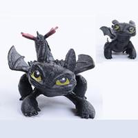 ingrosso furia nera-Drago senza denti Come addestrare il tuo drago 2 Figura giocattolo in PVC Nuovo film animato Luce Fury Black Doll Regalo di Natale C3