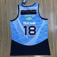 estados de iluminação venda por atacado-NSW ESTADO DE ORIGEM 2018 TREINAMENTO SINGLET 2019 nsw blues home pro jersey NSW AZUL 2018 LIGHT BLUE SINGLET tamanho S-3XL (pode imprimir)