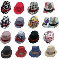 Wholesale fedoras jazz hat resale online - designs fashion Unisex casual fedora trilby hat Baby kids children Caps accessories hat dandys Jazz cap