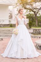 Wholesale beaded princess waist wedding dresses for sale - Group buy Vestido de Novia Long Sleeve Wedding Dresses V Neckline Sheer Back Beaded Waist Lace Wedding Dress Bridal Gowns Abiti da Sposa