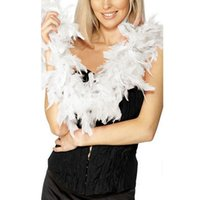 Wholesale feather boa party decorations resale online - 2M Feather Strip Fluffy Craft Boas Scarves Garland Costume Fancy Scarf Wedding Party Decoration Candy Color Wraps Multifunction