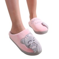 Wholesale warm slippers free shipping for sale - Group buy Sleeper NEW FASHION Women Winter Home Slippers Cartoon Cat Non slip Warm Indoors Bedroom Floor Shoes