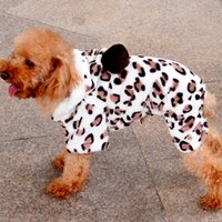 Wholesale male dog diaper small for sale - Group buy Dog Hoodies Leopard Print Love Heart Jacket With Cap Pet Dogs Clothes Winter Coral Velvet Hot Sale hy Uu