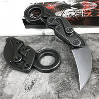 cuchillos karambit al por mayor-Nueva gama alta Caswell Tactical Knives Karambit M390 Black Stone Wash Blade Mango de acero inoxidable EDC Navajas de bolsillo Regalo de Navidad