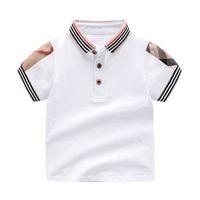 england boys kleidung großhandel-Einzelhandel Revers einfarbig Baby Jungen T-Shirt für Sommer Kinder Jungen Mädchen T-Shirts Kleidung Baumwolle Kleinkind Tops Kleinkind Mädchen Shirts Mädchen Shirt