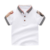 Wholesale clothing for retail resale online - Retail Lapel Solid Color Baby Boys T Shirt for Summer Kids Boys Girls T Shirts Clothes Cotton Toddler Tops Toddler Girl Shirts Girls Shirt