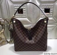 hermosas bolsas para mujeres al por mayor-41861 lujo Monograma diseño Bolso de cuero genuino Mujer nuevo estilo hermoso bolso tamaño 25-19-10