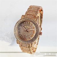 diamante m relógio venda por atacado-Relógios de luxo Mulheres Relógio M Diamantes Dial Band numerais Romanos Relógios De Quartzo Para Senhoras Das Mulheres Designer de Relógios frete grátis