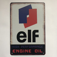 Wholesale engines performance resale online - Elf High Performance Engine Oil Younger Decor Vintage Retro Tin Sign Sexy Women Coke Cafe Bar Pub Home Office Wall Metal