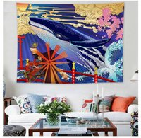 Wholesale surfing painting for sale - Group buy Wave wall tapestry Ukiyoshi Japanese style living room blankets sea waves tapestry decorative painting Kanagawa surf tapestrys background