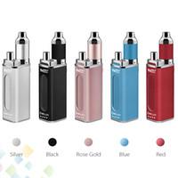 Wholesale single battery power bank resale online - Authentic Yocan DeLux Kit mAh Power Bank Battery mAh Mini Box Mod Wax Oil Atomizer In Kits DHL Free