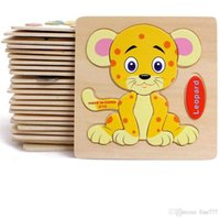 Wholesale wooden building toys for children for sale - Group buy Baby D Wooden Puzzles Educational Toys For Child Building Blocks Wood Toy Jigsaw Craft Animals