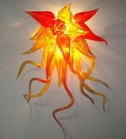 Style Hand Lamps Villa Sconce 100% Mouth Blown Borosilicate Glass Craft Beautiful Modern Wall Lamp
