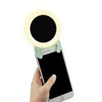 iluminación fotográfica led al por mayor-Iluminación fotográfica led flash Selfie Ring Light con espejo de maquillaje para iPhone iPad tableta con teléfono inteligente
