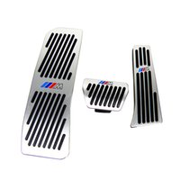 Wholesale alloy brake pedal resale online - No Drill Gas Brake Footrest Pedal Plate Pad For BMW New series Aluminum alloy gas brake pedal