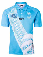 Wholesale quick olympic jersey for sale - Group buy 2019 world cup fiji home white Rugby jersey Sevens Olympic Shirt NRL National s Rugby Jersey s xl