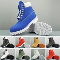 botas de tornozelo branco homens venda por atacado-Timberland 2020 homens mulheres ankle boots preta branca moda navy trigo mens inicialização outddoor sapatos de corrida sapatos de caminhada martin