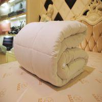 ingrosso copertura comforter rosa regina-Completo / Queen / King Mulberry Comforter Set di biancheria da letto Winter / Summer Cover in cotone Pink White Quilt Throw Blanket Letto matrimoniale Size #XTN