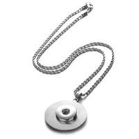 collar de vocheng al por mayor-18 mm Vocheng Ginger Snaps joyas acero inoxidable colgante collar de cadena de acero inoxidable NN-518 Snap