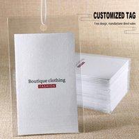 kıyafet askı etiketleri toptan satış-Özelleştirilmiş baskı giyim etiketi asmak etiketi 300gsm kağıt kurulu konfeksiyon salıncak asılı etiketi el etiketleri