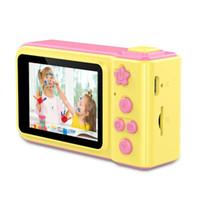 hd камера высокого разрешения оптовых-2.0-дюймовый мультфильм дети цифровая фотокамера HD 1080P видеомагнитофон высокой четкости экран Mini SLR мультфильм прекрасная камера