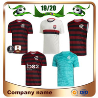 Wholesale blue white football jerseys for sale - Group buy 19 Flamengo home red black Soccer Jersey Away GUERRERO DIEGO EDERSON Soccer shirt MANCUELLO VINICIUS JR rd Custom football uniforms