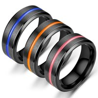 coole heiße schmucksachen großhandel-Heißer verkauf titanium stahl schwarz ring schraubendreher mode cool schmuck ringe für männer frauen mit nut