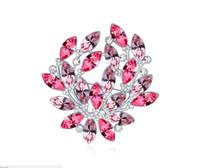 çelenk broşları toptan satış-Ücretsiz kargo moda takı Swarovski Elemental Kristal Broş Kullanarak Işıltılı ve lüks Garland Broş Pin Broşlar Iğneler