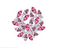 broches de guirnalda al por mayor-Envío gratis joyería de moda usando Swarovski Elemental Crystal Broche Brillante y lujoso Garland Broche Pin Broches Pins
