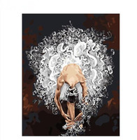sanat resim dansçıları toptan satış-Sayıların Yağ Ev Dekorasyonu Sanat Boyama Boyalı Tuval Hand üzerinde Akrilik Boya ile Boyama Çerçevesiz Bale Dansçı DIY