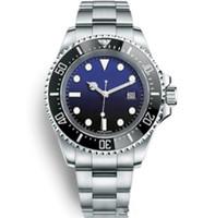 relógios de alta qualidade homens vermelhos venda por atacado-Relógios De Luxo Para Homens Relógio Automático de Alta Qualidade Basileia Vermelho SEA-DWELLER Relógio De Aço Inoxidável À Prova D 'Água 30 M relógios de Pulso