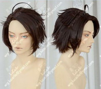 Wholesale hetalia cosplay resale online - APH Axis Powers Hetalia Austria Roderich Edelstein Coffee Brown Cosplay Hair Wig
