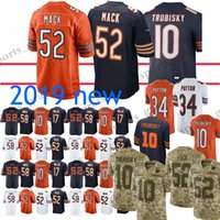 52 Khalil Mack Jerseys 10 Mitchell Trubisky Chicago bears 34 Walter Payton  58 Roquan Smith 24 Howard Jersey 2019 new 5b7e5617c