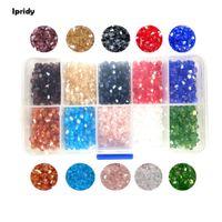 граненые ожерелья из бисера оптовых-Ipridy 1box/lot 4mm Crystal Bicone Glass  Czech Loose Corn New Cut Faceted for DIY Jewelry Necklace Bracelets