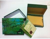 буклет смотреть оптовых-Бесплатная доставка часы Мужские Для Watch Box Внутренние Наружные Женские Часы Коробки Мужские Наручные Часы Зеленая коробка буклет карты