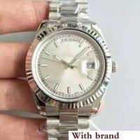 белые часы для мужчин оптовых-Дизайнерские мужские часы Sweep white face Автоматическое движение Механические алмазы серебристые Нержавеющая сталь Сапфир Оригинальная застежка Мужские часы