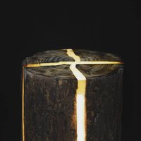 ingrosso resina cracking-Crack legno resina giardino luce ceppo lampada albero betulla indoor illuminazione esterna impermeabile IP66 inverno Nordic taglialegna candela Natale nuovo