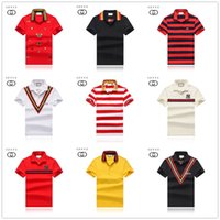 Wholesale crocodile clothes online - kinds of pure color spring luxury Italian T shirt designer Polo shirt high street embroidered garter crocodile print clothing men s brand