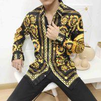 robe chemise homme coupe slim achat en gros de-Marque New Mens Medusa Chemises à manches longues 2019 Slim Fit Chemises Affaires Décontractée homme Chemise