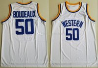 ingrosso pullover di pallacanestro-Nuovo stile 50 Shaq Neon Boudeaux Jersey Uomini Università Basketball Western Movie universitario maglie della squadra Colore Bianco Sport cucito di trasporto