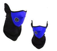 yüz maskesi, dış mekan, fleece toptan satış-2019 En Yeni Bisiklet Malzemeleri Yüz Windproof Açık Bisiklet kaplayan Binme Bisiklet Kayak Fleece Kış Sıcak Yarım Yüz Maske Maskeler M678F