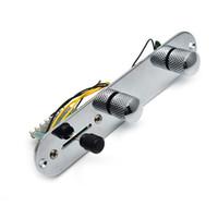 yüklü gitar toptan satış-Krom 3 Yollu Kablolu Loaded Kablolu Kontrol Plakası Harness TL Tele Telecaster Gitar aksesuarları MU0604 için Düğmeleri Anahtar