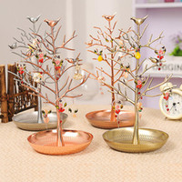 Wholesale metal necklace stands displays for sale - Group buy Rasalhaguer Hot Sale Jewelry Display Stand Rack Tree Bird Stand Iron Necklace Earring Holder Bracelet Fashion Organizer Colors SH190723