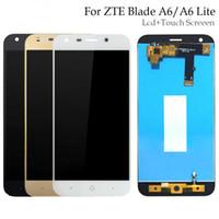 lite de oro al por mayor-100% probado para ZTE Blade A6 / A6 Lite Pantalla LCD y ensamblaje de pantalla táctil Repuestos para ZTE Blade A0620 Negro / Blanco / Dorado