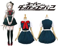 Dangan Ronpa 2 Sonia Nevermind Cosplay Costume Outfit Bowkont Blue Dress Skirt