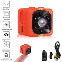 araba kamera kaydedici dijital toptan satış-SQ11 Mini Kamera dijital kamera 480 P / 1080 P Full HD Gece Görüş Kamera Araba Video Kaydedici Spor Dijital Kamera Desteği TF Kart