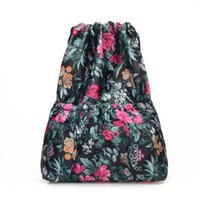 Wholesale gold gourd for sale - Group buy bags for women flowers new Fashion Women Printed bag pack Gourd Leisure Bag Large Capacity Travel beach sac bolsos