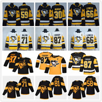 jerseys pingüinos al por mayor-Juventud masculina Señora Pittsburgh Penguins 87 Sidney Crosby Mario Lemieux Evgeni Malkin Letang Phil Kessel Guentzel Matt Murray Niños camisetas de hockey