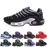 высококачественный кроссовки оптовых-Nike TN air max TN air TN Горячие продавая цветы Оптовая продажа высокого качества горячего сбывания TN людей идущие ботинки спортов ботинок тренера ботинок размер 7-12